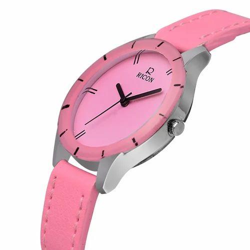 00cfa52229a3 Pink Ricon Ladies Stylish Watch