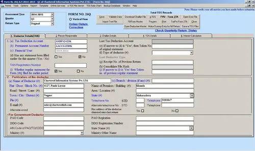 Desktop E Tds Return Filing Software In Pan India Id 11635290930