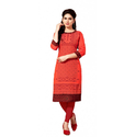 Red South Cotton Long Kurtis 106