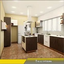 Plywood Island Modular Kitchen, Kitchen Cabinets