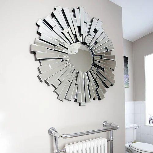 Fancy Decorative Glass Mirror Shape Round Rs 320 7 Feet Naz Glass Works Id 18422183830