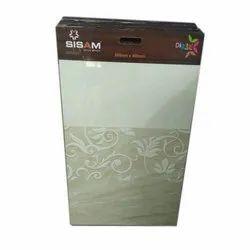 Gloss Sisam Digital Ceramic Wall Tiles, Size: 800 x 400 mm