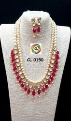 Cl Code Designer Handmade Kundan Bollywood Sabyasachi Designer Fashion Jewellery Necklace & Earrings
