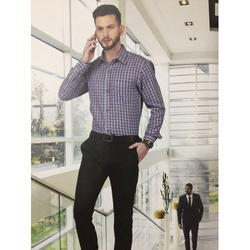 Mens Cotton Plain Formal Office Uniform