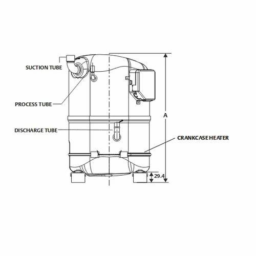 emerson cr22k6me pf1 3 phase copeland crk6  kq compressor