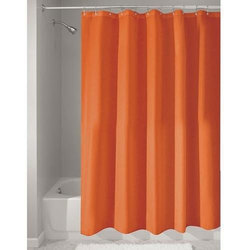 Draperi Plain Solid Orange Shower Curtain