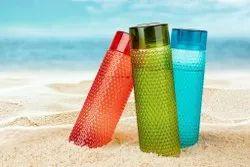 Welldecor Latest Edition Plastic Water Bottle/Refrigerator 1 Litre Bottle (3 pcs. Set)