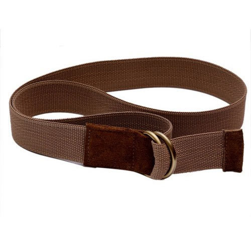 Moac Brown Mens Casual Canvas Belt