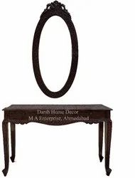Antique Console Table With Mirror Frame