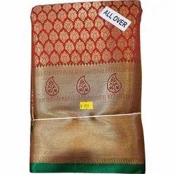 Wedding Wear Banarasi Uppada Silk Saree, 6.3m, With Blouse Piece