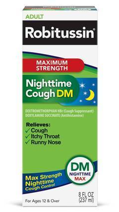 robitussin maximum strength nighttime cough syrup
