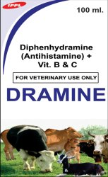 Diphenhydramine (Antihistamine) - Vitamin B & C