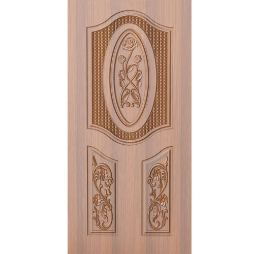 Wood Interior Flower Design Wooden Door