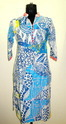 IS 01T Blue Geometric Print Cotton Kurtis