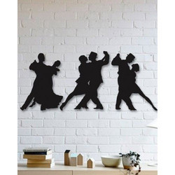 Black Metal Dancer Wall Art