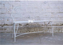 Entryway Bench in Modern White Industrial Design for Gardens, Restaurants, Pubs, Cafes