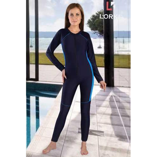 f49f59e6d9dc66 Navy Blue Ladies Lorke Swimming Wear, Dhruv Clothing | ID: 20434695530