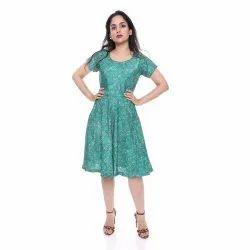 Female Assorted Summer Wear Girl Dress, Handwash