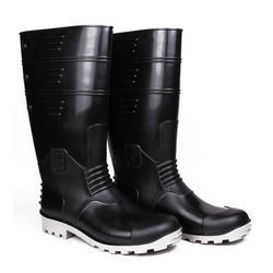 Torpedo Black Grey Safety Gumboot