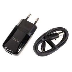 Black HTC Mobile Charger