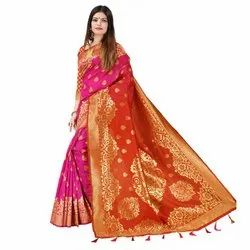 J28 Bridal Wear Khadi Silk Saree