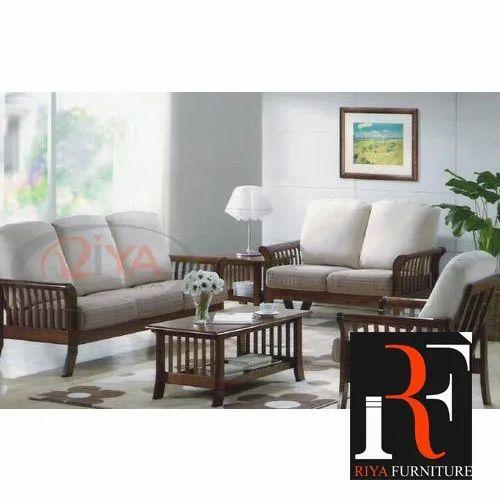 Modern Velvet Living Room Wooden Sofa Sets Seating Capacity 5