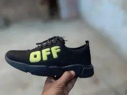 Men Canvas Black Casual Shoes, Size: 6-10