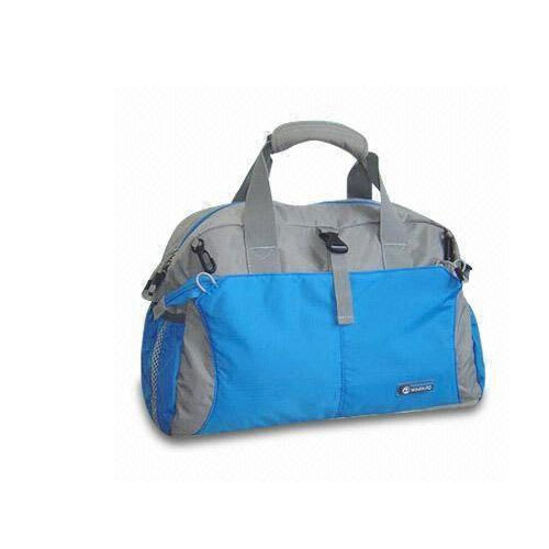 6795f0a18555 Blue And Grey Plain Sports Duffel Bag