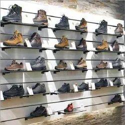 Stainless Steel,Glass Footwear Display Rack, Shoe Rack Capacity: 270 Kg, 5 Shelves