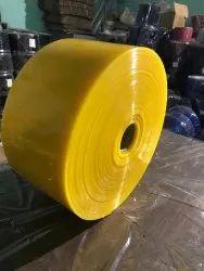 Yellow Opaque Pvc strip curtain Roll