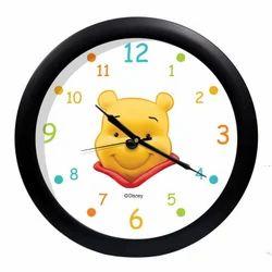 Acrylic Pooh Printed Round Wall Clock