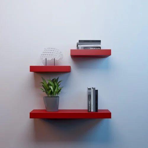quality design c38f4 ea450 Mdf Floating Wall Shelves Set Of 3 Racks