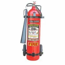 Stop Fire 9kg Carbon Dioxide Gas Based Trolley Mounted Fire Extinguisher