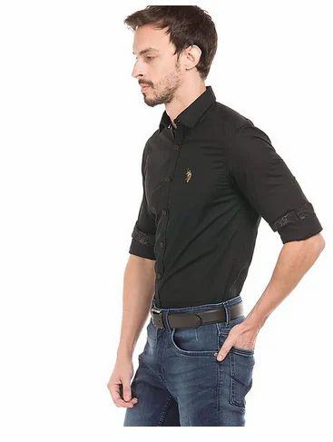 e9e2464322 U.S. Polo Assn. Denim Co. Solid Slim Fit Shirt at Rs 1140  piece ...