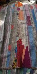 Multicolored Vintage Kantha Quilt