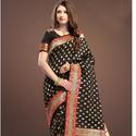 Fancy Blue Designer Silk Saree