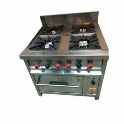 Stainless Steel Four Burner With Oven ( Continental Gas Range)