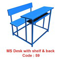 Ms Desk With Shelf Back At Rs 5500 Piece Dohri Wali Bench Azad Enterprises Hyderabad Id 16722030591