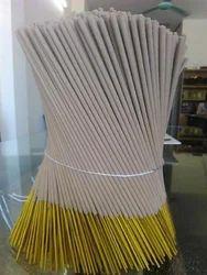 Round Bamboo White Raw Agarbatti for Religious