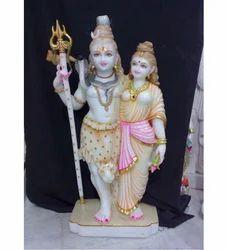 White Marble Shiv Parvati Murti