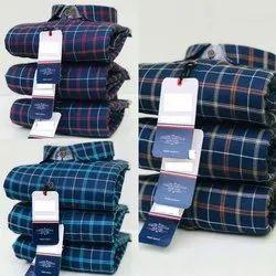 Casual Wear Mens Check Cotton Shirts