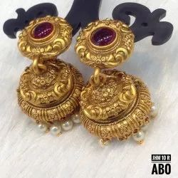 South Indian Style Copper Matte Jhumki JHM 10