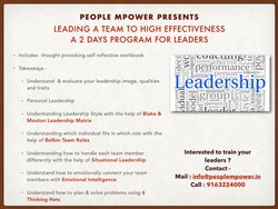 Sr Leadership Training Program