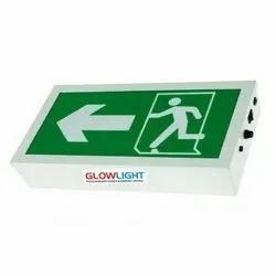 Ivory Rectangle Emergency Exit LED Light, Size: 180 mm X 300 mm