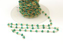 Dyed Emerald Chain