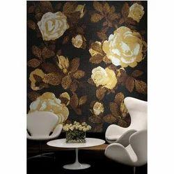 Flowers Printed Mural Mosaic Tile