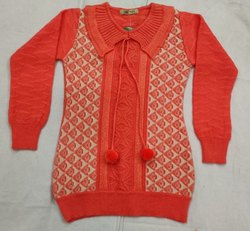 Female Girls woolen top, Size: 24 To 36