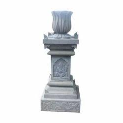 Grey And Black Tulsi Vrindavan Stone Craft