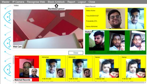 Realtime Face Recognition Solution Artificial Intelligence Ip Cam/ Webcam  Based