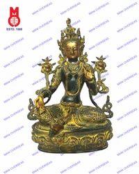 White Tara Sitting Statue
